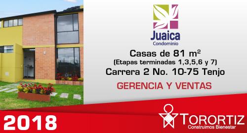 Juaica-condominio-locales-tenjo-calle-80-portal-venta-vivienda-nueva-cundinamarca-mezzanine-torortiz-casas-lotes-Trayectoria 2018 Juaica